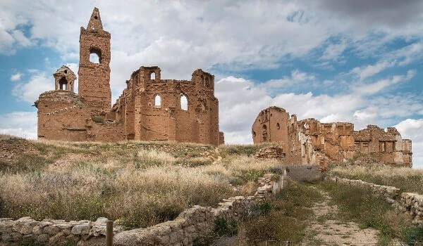 Belchite Spain Haunted Village