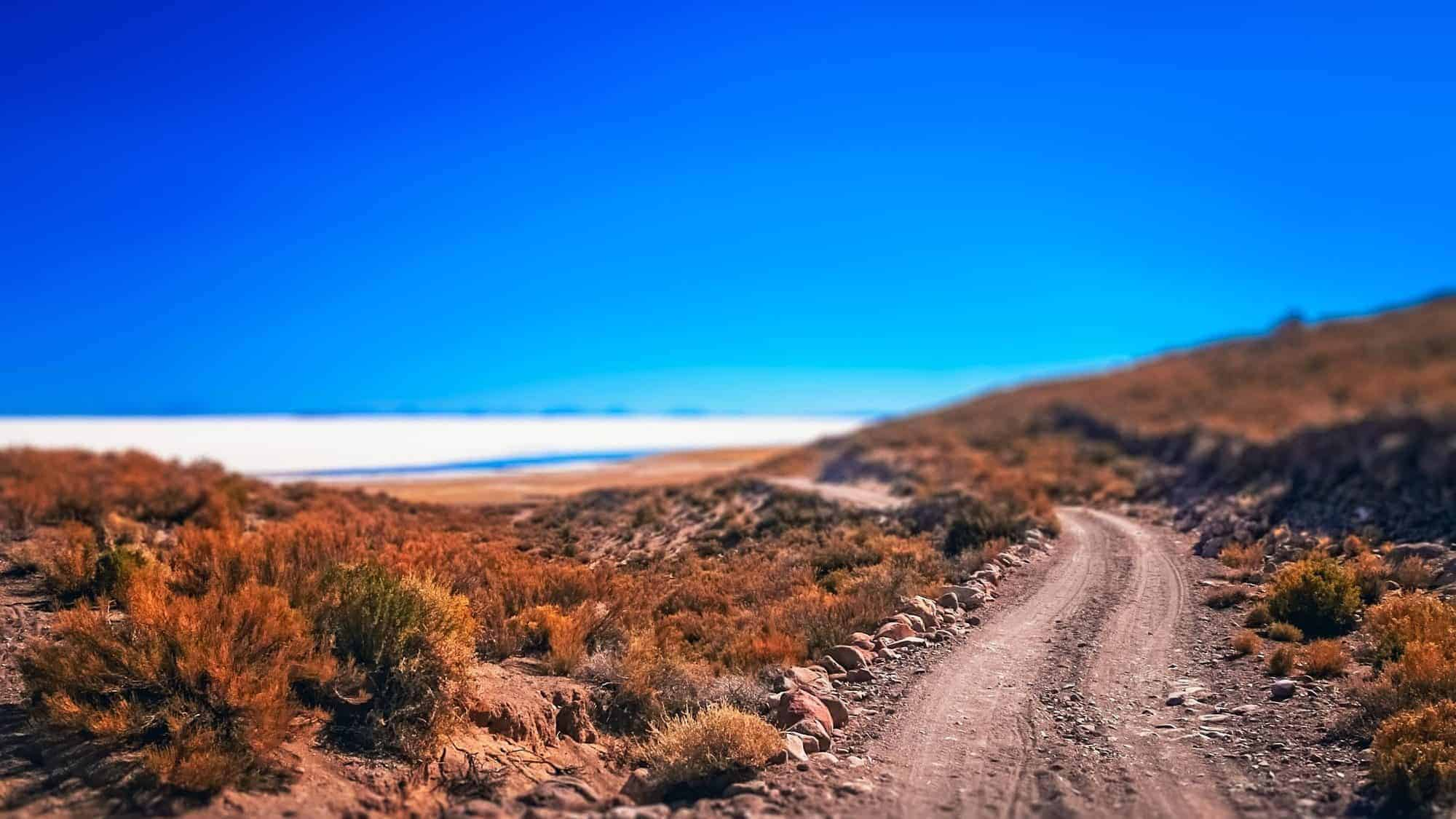 Road towards Salar de Uyuni