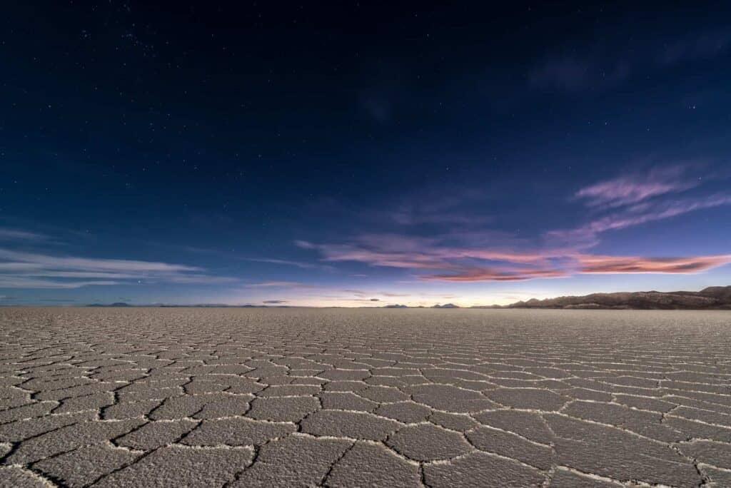 Salar de Uyuni Salt Flats at Night